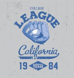 california college league poster vector image vector image
