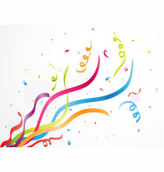 colorful party confetti on white background vector image vector image
