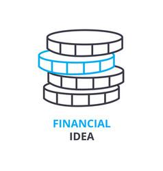 financial idea concept outline icon linear sign vector image
