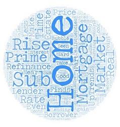 Home Mortgage Refinance Sub Prime Market Trends vector image