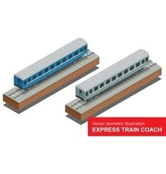 isometric of a Fast Train vector image vector image