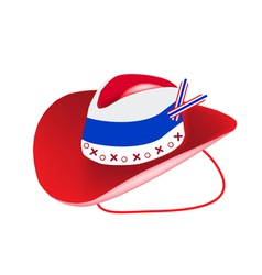A Cowboy Hat of Thai Flag on White Background vector