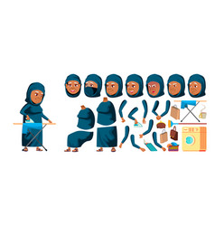 arab muslim old woman senior person vector image