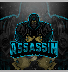 Assassin logo mascot for esport streaming etc vector