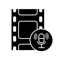 audio recording glyph icon vector image