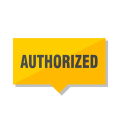 Authorized price tag vector