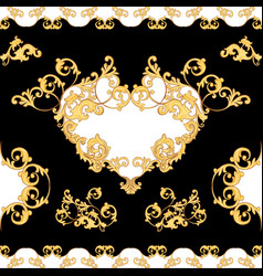 baroque decorative element seamless pattern vector image