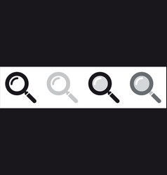 basic magnifying glass icon - search symbol vector image