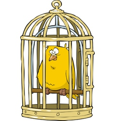birdcage with a canary vector image