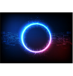Blue pink light technology vector