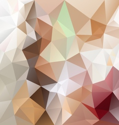 Brown beige abstract polygon triangular pattern vector
