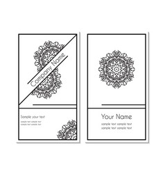 business card with a circular ornamental vector image
