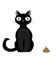 Cat and turd2 vector