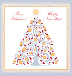 Christmas background new year tree happy winter vector