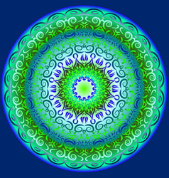 circular pattern in blue and green vector image