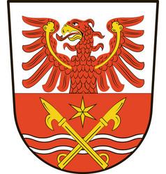 Coat of arms of markisch-oderland in brandenburg vector