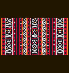 Colorful mosaic oriental kilim rug with vector