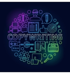 Copywriting round bright vector