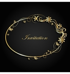 Decorative Gold Frame vector image
