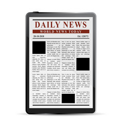 digital news concept vector image