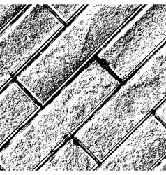Distressed brick background diagonal vector