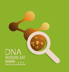 dna design over white background vector image