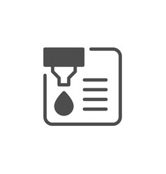 Document printing and ink print glyph icon vector