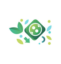 eco related symbols green energy and environment vector image