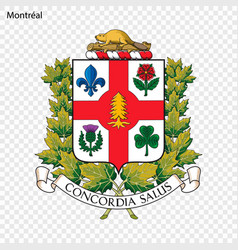Emblem of montreal vector