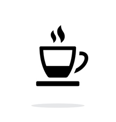 Ending tea cup icon on white background vector