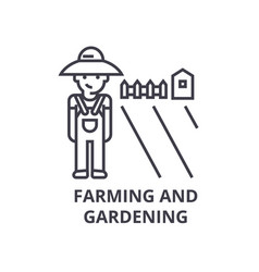 farming and gardening line icon outline sign vector image
