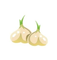 Garlic Bright Color Simple vector