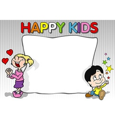 Happy Kids Background vector