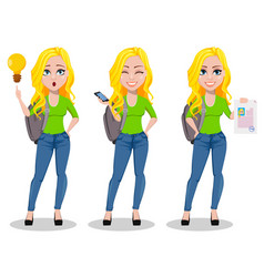 happy student back to school vector image