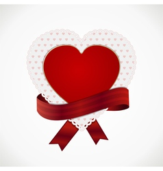 heart card and ribbon vector image