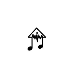 House home real estate apartment notes music logo vector