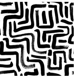 labyrinth geometric seamless pattern vector image