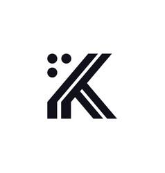 logo letter k black and white vector image