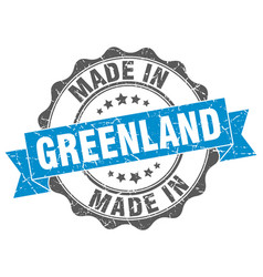 made in greenland round seal vector image