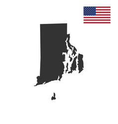 map of the us state of rhode island vector image