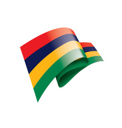 mauritius flag on a white vector image