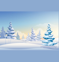 merry christmas natural background vector image