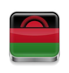 Metal icon of Malawi vector image