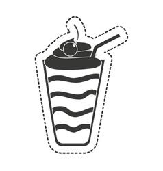 milkshake sweet isolated icon vector image
