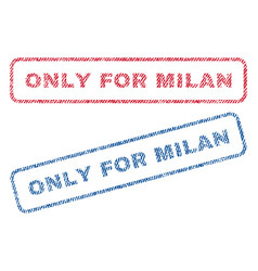 Only for milan textile stamps vector