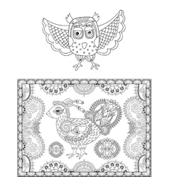 original black and white line drawing page of vector image