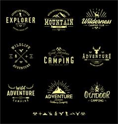 Outdoors Adventure Badges vector