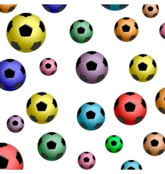 pattern of color football balls vector image