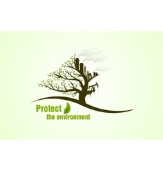 Protect the environment vector