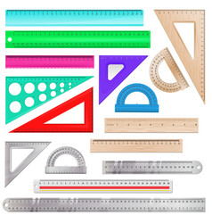 ruler maths measurement scale tool to vector image